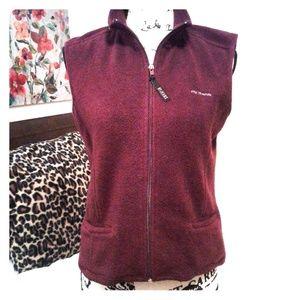 New York Jeans & CO Maroon Vest, Small, Full Zip